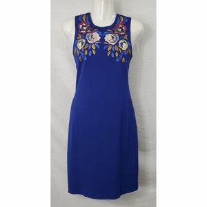Cynthia Steffe Embroidered Blue Dress